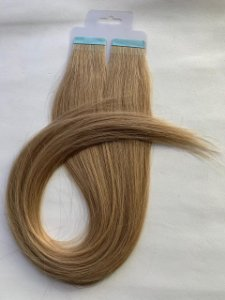 Mega hair fita adesiva #18 - 20 fitas - 50cm cabelo humano