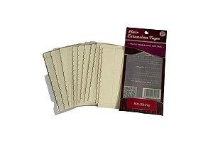 Fita adesiva no-shine dupla face - 4 cm x 0,8 cm – 10 cartelas – branca