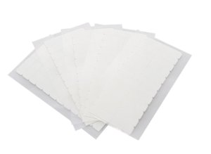 Fita adesiva americana s/brilho dupla face - 4 cm x 0,8 cm – 5 cartelas – branca