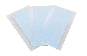 Fita adesiva americana dupla face - 4 cm x 0,8 cm – 3 cartelas – azul