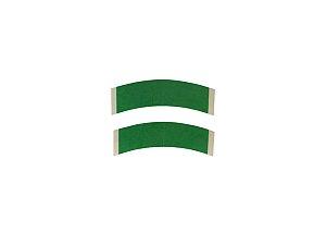 Fita adesiva para prótese capilar dupla face - 12 unidades – verde