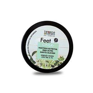 405 - Manteiga Nutritiva Natural Vegano  para os Pés Karité e Alecrim Twoone Onetwo 200g