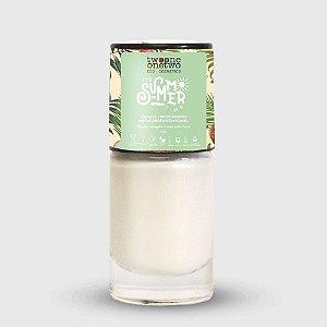 635- Esmalte It´s Summer Time Hipoalergênico Vegano Fortalecedor Twoone Onetwo 10ml White Shimmer