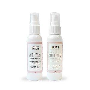 Kit Facial para Peles Oleosas e Acneicas - Vegano e Natural - TWOONE ONETWO
