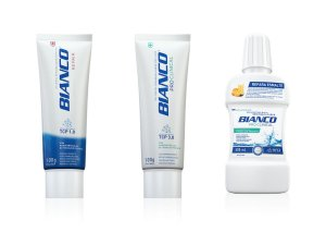 Combo creme dental multibeneficios BIANCO ADVANCED REPAIR + PRO CLINICAL 100gr + enxaguante bucal PRO CLINICAL 500 ml