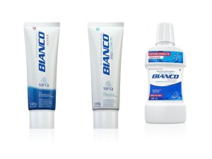 Combo creme dental para clareamento BIANCO ADVANCED REPAIR + PRO CLINICAL 100gr + enxaguante bucal REPAIR 500 ml
