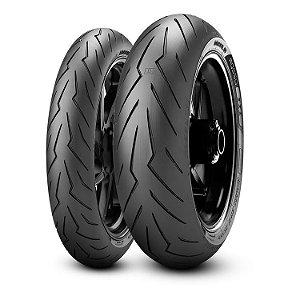 Pneu Pirelli Diablo Rosso lll 120/70R17 e 190/55R17 - (Par)