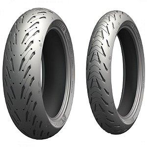 Pneu Michelin Pilot Road 5 120/70zr17 58w e 160/60zr17 69w Par