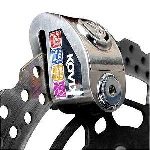 Trava de disco KOVIX KD-6 Com Alarme - Polido