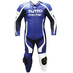 Macacão TUTTO RACING - 1 Peça - Azul/Branco/Prata