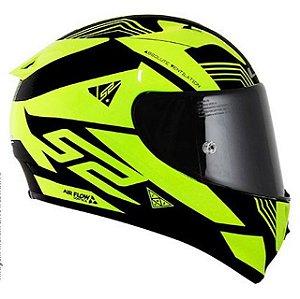 Capacete LS2 FF323 Arrow - Neon Matte Preto/Amarelo Fluorecente