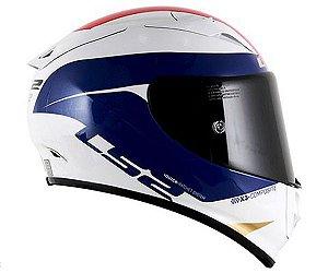 Capacete LS2 FF323 Arrow - Comet Branco/Azul/Vermelho
