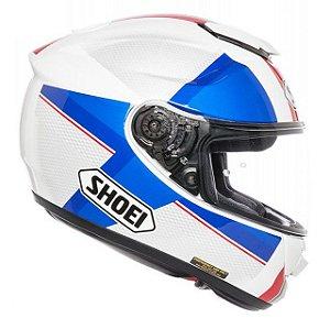 Capacete SHOEI GT-AIR Exposure - Branco/Verm/Azul