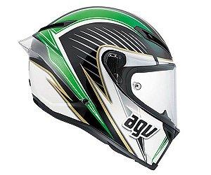 Capacete AGV Corsa Race Track - Branco/Verde/Vermelho
