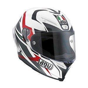 Capacete AGV Corsa Velocity - Branco/Preto/Vermelho