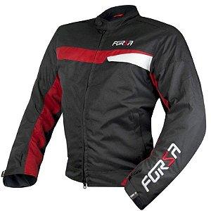 Jaqueta Forza Sports Manghen - Preta/Vermelha