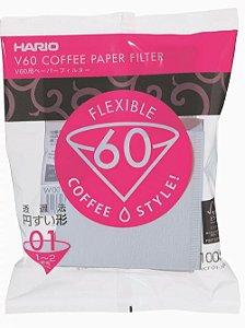 Filtro de papel Hario V60 - 01 - 100 unidades