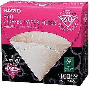 Filtro de Papel Natural V60, Tamanho 02 - 100 unidades