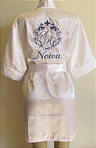 DUPLICADO - Robe de cetim bordado