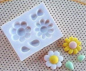 Molde silicone Flores Delicadas