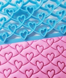 Marcador de Textura Coração Namorados Casamento Amor