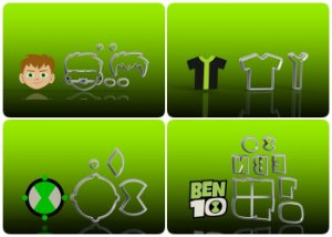Cortador Ben 10 - Kit 4 Modelos Modulares