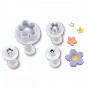 Ejetor Flores Flor Florzinha Miosótis 4 Kit Peças