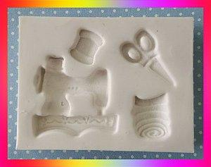 Molde silicone Máquina de Costura ( Costureira) Ateliê Tesoura