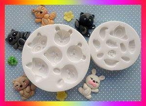 Molde silicone Bosque 5 Modelos (rosto + corpo)