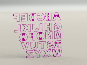 Cortador Alfabeto Mod 4 - Letras