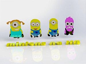 Cortador Kit Minions 04 Personagens Modulares