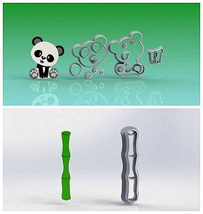 Cortador Kit Panda + Bambu