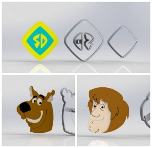 Cortador Kit Scooby Doo - 3 Modelos