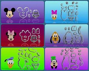 Cortador Turma do Mickey com 6 Personagens Modulares