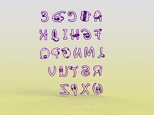 Cortador Alfabeto Disney - Letras