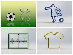 Cortador kit Futebol com 4 modelos