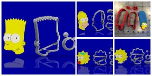 Cortador Kit Simpsons 5 Personagens Modulares
