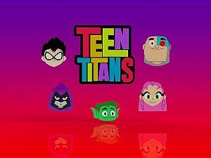 Cortador kit Jovens Titãns - 5 Personagens + Logo Modulares