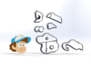 Cortador Gravity Falls - Dipper