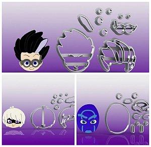 Cortador Kit PJ Masks Viloes (3 Personagens)