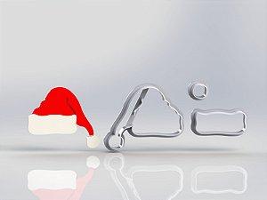 Cortador Natal Touca do papai Noel Modular