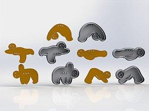 Cortador Kit Bonecos Yoga (cortador e marcador)