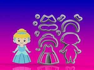 Cortador Princesa Cinderela Modular