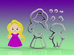 Cortador Princesa Rapunzel Modular