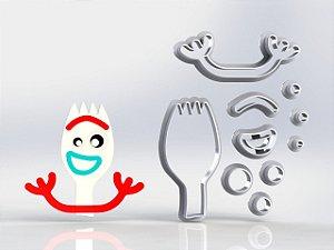 Cortador Toy Story - Garfinho com corpo Modular