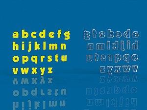 Cortador Alfabeto Letras Minusculas - Mod 7