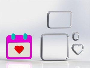 Cortador Dia dos Namorados  - Calendário Coração