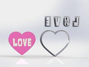 Cortador Dia dos Namorados - Coração Love