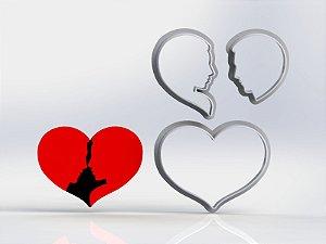 Cortador Dia dos Namorados  - Coração Namorador