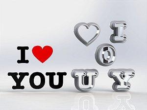 Cortador Dia dos Namorados - I LOVE YOU